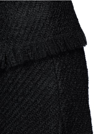 Detail View - Click To Enlarge - Isabel Marant - Fringed asymmetric drape wrap tweed skirt