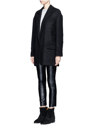 Front View - Click To Enlarge - Isabel Marant - 'Ilaria' wool blend bouclé tweed jacket