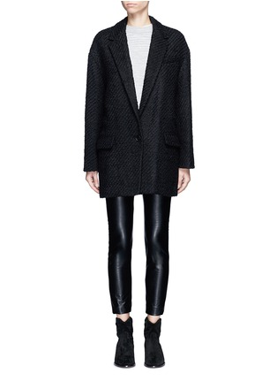 Main View - Click To Enlarge - Isabel Marant - 'Ilaria' wool blend bouclé tweed jacket