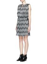 'Galise' geometric jacquard chiffon dress