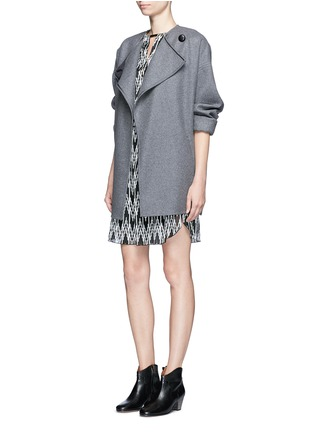 Figure View - Click To Enlarge - Isabel Marant - 'Galise' geometric jacquard chiffon dress