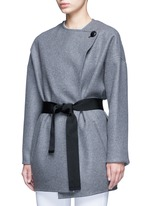 'Feodor' wool-cashmere drape coat