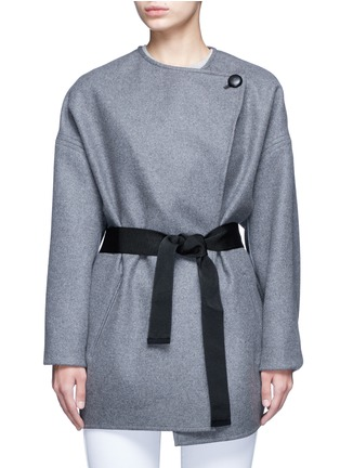 Main View - Click To Enlarge - Isabel Marant - 'Feodor' wool-cashmere drape coat