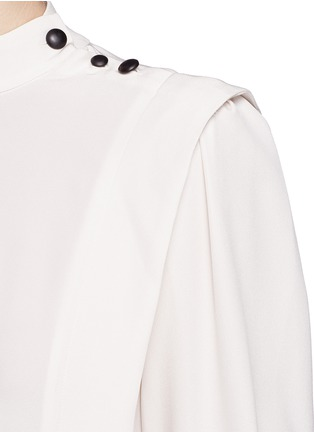 Detail View - Click To Enlarge - Isabel Marant - 'Belissa' shoulder button drape crepe top