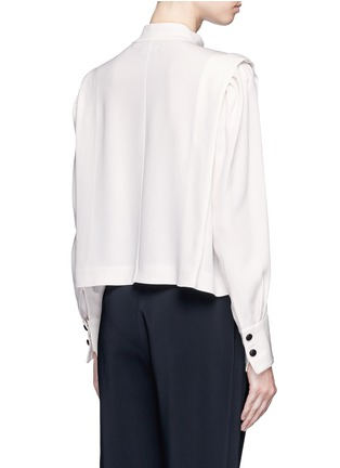 Back View - Click To Enlarge - Isabel Marant - 'Belissa' shoulder button drape crepe top