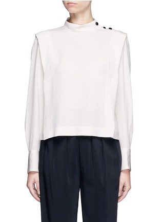 Main View - Click To Enlarge - Isabel Marant - 'Belissa' shoulder button drape crepe top