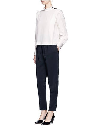 Figure View - Click To Enlarge - Isabel Marant - 'Belissa' shoulder button drape crepe top