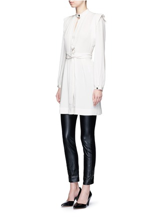 Figure View - Click To Enlarge - Isabel Marant - 'Brad' sash tie surplice crepe dress