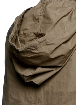 Detail View - Click To Enlarge - Isabel Marant - 'Dracen' belted nylon raincoat