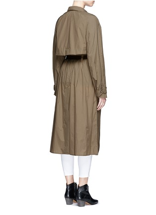 Back View - Click To Enlarge - Isabel Marant - 'Dracen' belted nylon raincoat