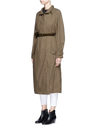 Front View - Click To Enlarge - Isabel Marant - 'Dracen' belted nylon raincoat