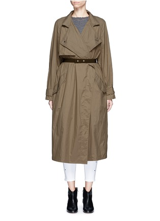 Main View - Click To Enlarge - Isabel Marant - 'Dracen' belted nylon raincoat