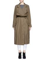 'Dracen' belted nylon raincoat
