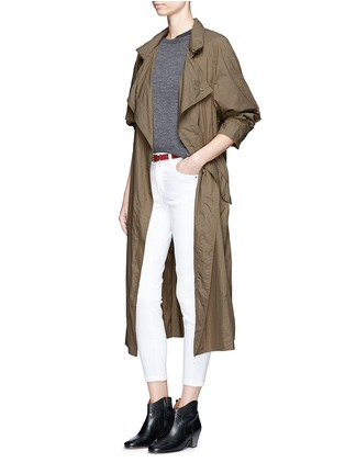 Figure View - Click To Enlarge - Isabel Marant - 'Dracen' belted nylon raincoat