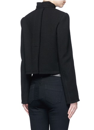 Back View - Click To Enlarge - Proenza Schouler - Ring flap pocket wool jacket