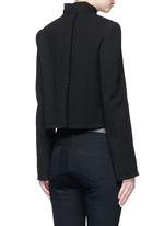 Ring flap pocket wool jacket