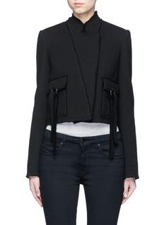 Proenza SchoulerRing flap pocket wool jacket