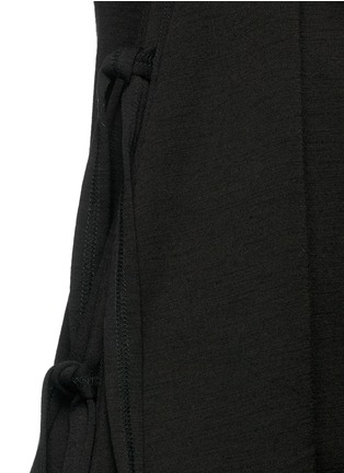 Detail View - Click To Enlarge - Proenza Schouler - Side tie double faced wool-cotton jersey flared dress