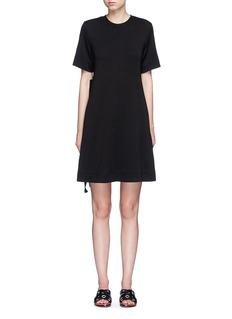 Proenza SchoulerSide tie double faced wool-cotton jersey flare dress