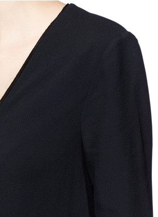 Detail View - Click To Enlarge - Proenza Schouler - V-neck crepe flare dress