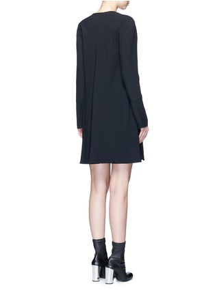 Back View - Click To Enlarge - Proenza Schouler - V-neck crepe flare dress