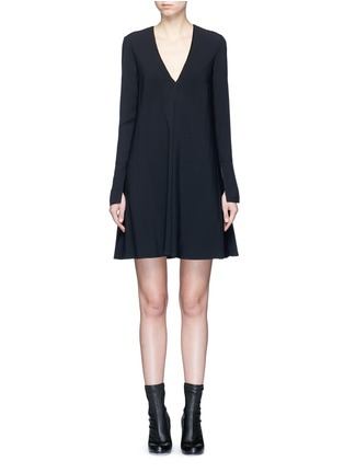 Main View - Click To Enlarge - Proenza Schouler - V-neck crepe flare dress
