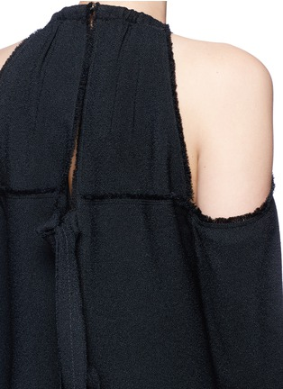 Detail View - Click To Enlarge - Proenza Schouler - Torque neck cold shoulder crepe top