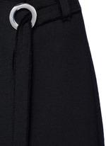 Frayed crepe belted skirt
