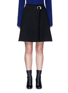 Proenza SchoulerFrayed crepe belted skirt