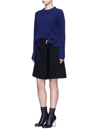 Figure View - Click To Enlarge - Proenza Schouler - Frayed crepe belted skirt