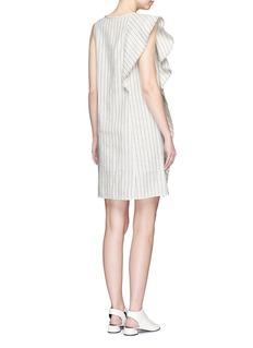 3.1 Phillip LimRuffle pinstripe linen dress