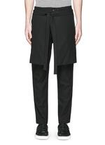 Skirt overlay gabardine pants