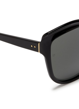 Detail View - Click To Enlarge - Linda Farrow - Oversize acetate square cat eye sunglasses