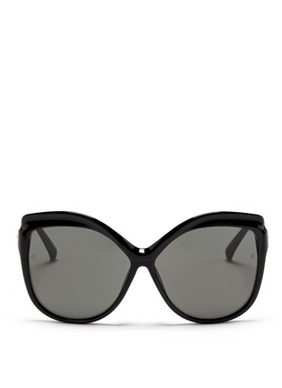 Main View - Click To Enlarge - Linda Farrow - Oversize acetate square cat eye sunglasses