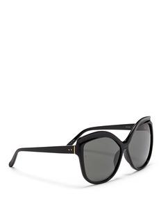 LINDA FARROWOversize acetate square cat eye sunglasses