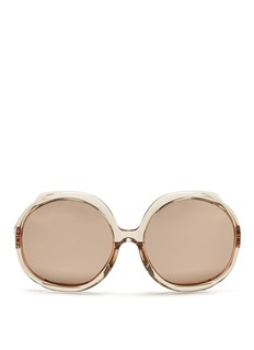 LINDA FARROWOversize acetate round mirror sunglasses