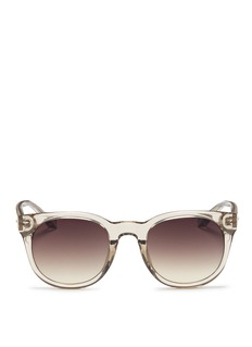 LINDA FARROWAcetate D-frame sunglasses