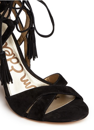 Detail View - Click To Enlarge - Sam Edelman - 'Azela' tassel suede sandals