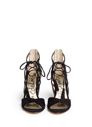 Front View - Click To Enlarge - Sam Edelman - 'Azela' tassel suede sandals