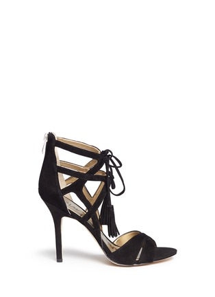 Main View - Click To Enlarge - Sam Edelman - 'Azela' tassel suede sandals