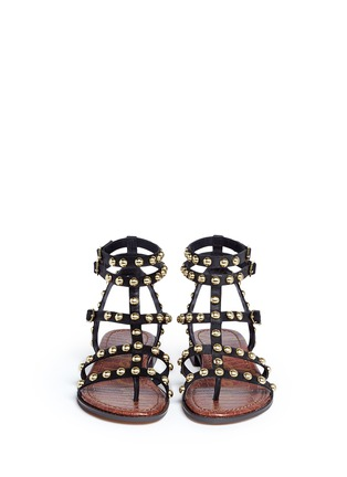 Front View - Click To Enlarge - Sam Edelman - 'Eavan' stud leather gladiator sandals