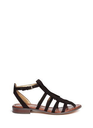 Main View - Click To Enlarge - Sam Edelman - 'Estelle' fringe caged suede sandals