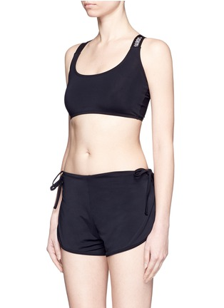 Figure View - Click To Enlarge - Beth Richards - 'Masi' logo elastic strap sports bra