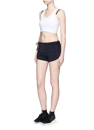 Detail View - Click To Enlarge - Beth Richards - 'Gwen' contrast strap cropped swim tank top