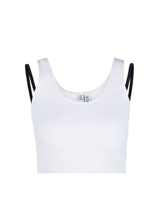 Main View - Click To Enlarge - Beth Richards - 'Gwen' contrast strap cropped swim tank top