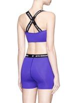'Masi' logo elastic strap sports bra