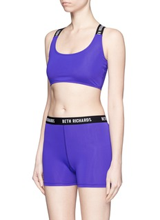 Beth Richards 'Masi' logo elastic strap sports bra