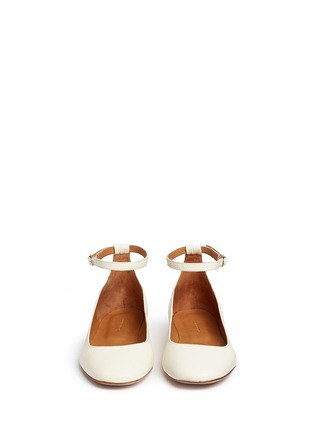 Front View - Click To Enlarge - Isabel Marant Étoile - 'Lili' ankle strap leather flats