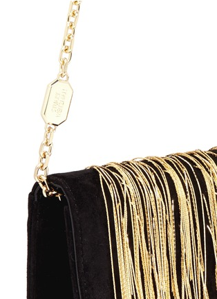 Stuart Weitzman - 'Angel Hair' fringe suede chain clutch