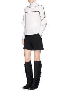 SEE BY CHLOÉGraphic petal hem crêpe shorts